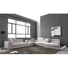 See Details - Divani Casa Forte - Modern Modular Fabric Sectional Sofa
