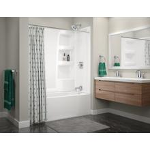 White ProCrylic 60 in. x 30 in. Bathtub Surround