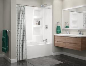 White ProCrylic 60 in. x 30 in. Bathtub Surround Product Image