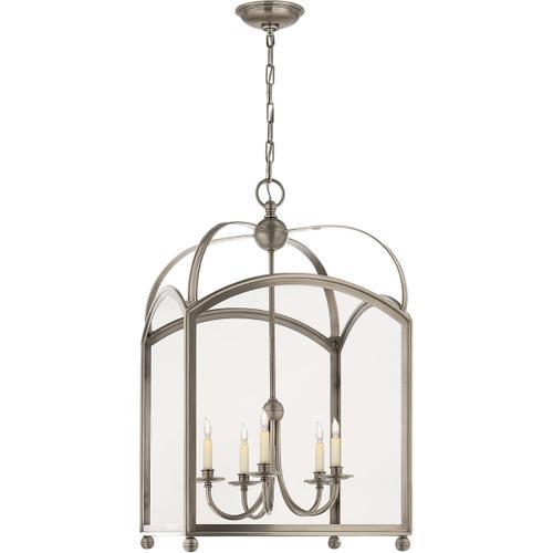 - E. F. Chapman Arch Top 5 Light 20 inch Antique Nickel Foyer Pendant Ceiling Light