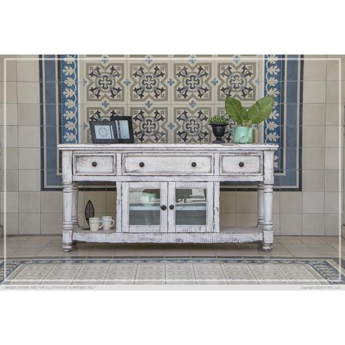 "70"" TV Stand, w/3 Drawers & 2 Doors, in White Finish"