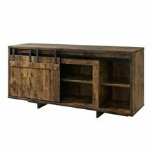 ACME Bellarosa TV Stand - 91610 - Farmhouse - Wood (Rbw), MDF, PB - Rustic Oak