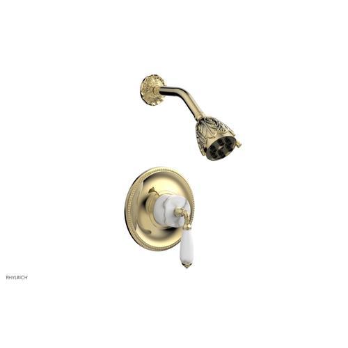 Phylrich - VALENCIA Pressure Balance Shower Set PB3338B - Polished Brass Uncoated