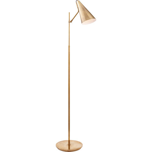 AERIN Clemente 47 inch 60 watt Hand-Rubbed Antique Brass Floor Lamp Portable Light