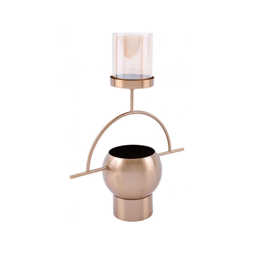 See Details - Candle Holder Antique Brass