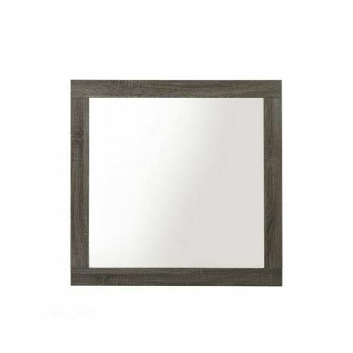 ACME Avantika Mirror - 27674 - Transitional - Veneer (Foil), MDF, PB - Rustic Gray Oak