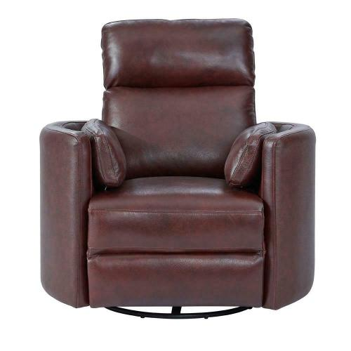 Parker House - RADIUS - FLORENCE BURGUNDY - Powered By FreeMotion Power Cordless Swivel Glider Recliner
