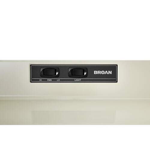 Broan® 30-Inch Ducted Under-Cabinet Range Hood, 160 CFM, Bisque