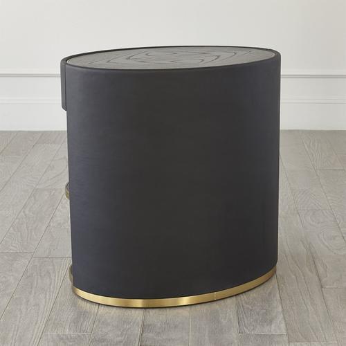 Global Views - Ellipse Bedside Cabinet-Black