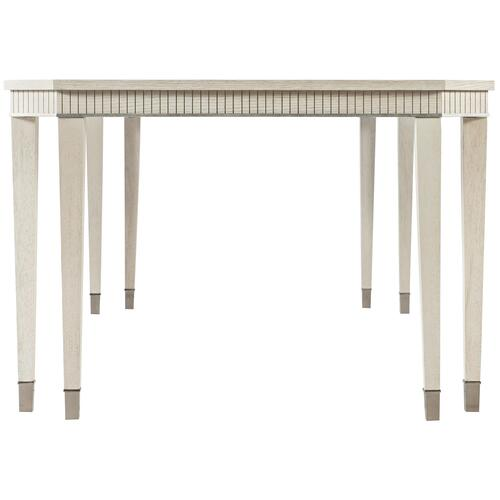 Allure Dining Table in Manor White (399), Silver Mist (399)