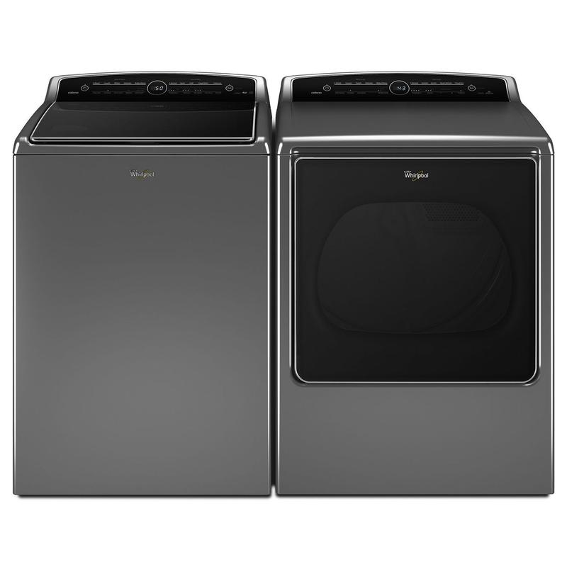 8.8 cu.ft Top Load HE Gas Dryer with Intuitive Touch Controls, Steam Refresh Chrome Shadow