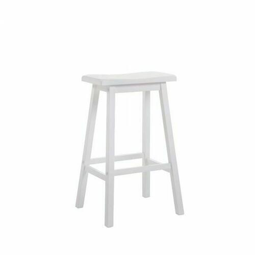 "ACME Gaucho Bar Stool (Set-2) - 07311 - White - 29"" Seat Height"