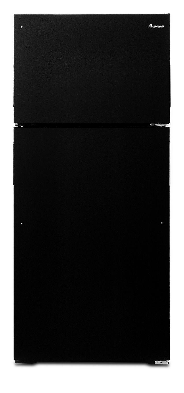 Amana28-Inch Top-Freezer Refrigerator With Gallon Door Storage Bins Black