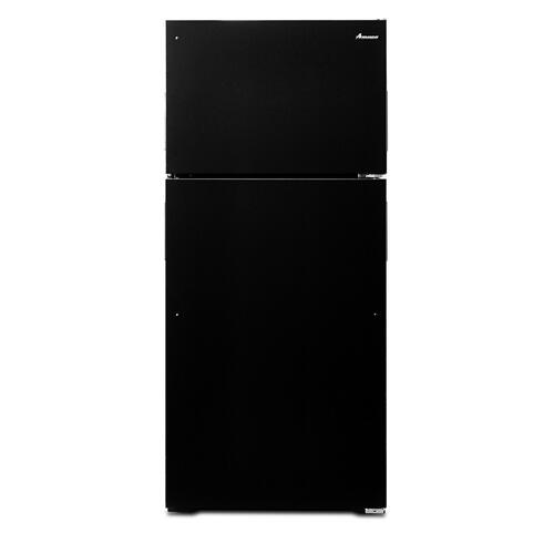 28-inch Top-Freezer Refrigerator with Gallon Door Storage Bins Black