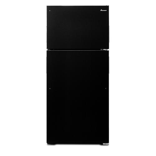Amana - 28-inch Top-Freezer Refrigerator with Gallon Door Storage Bins Black