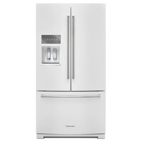 26.8 cu. ft. 36-Inch Width Standard Depth French Door Refrigerator with Exterior Ice and Water White
