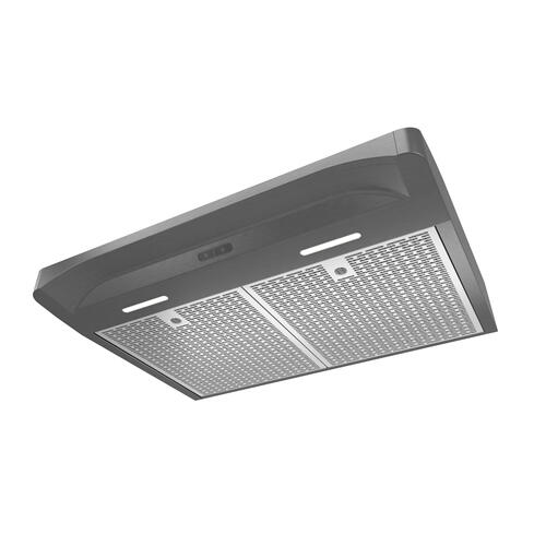 Broan® Elite 30-Inch Convertible Under-Cabinet Range Hood, Black Stainless Steel