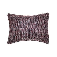 """See Details - 23-1/2""""L x 17-1/2""""H Wool Blend Pillow, Red & Blue"""