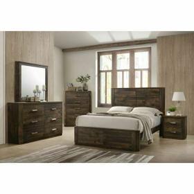 ACME Elettra Queen Bed - 24850Q - Rustic Walnut