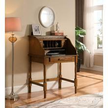 See Details - Palmetto Warm Honey Roll Top Secretary Desk