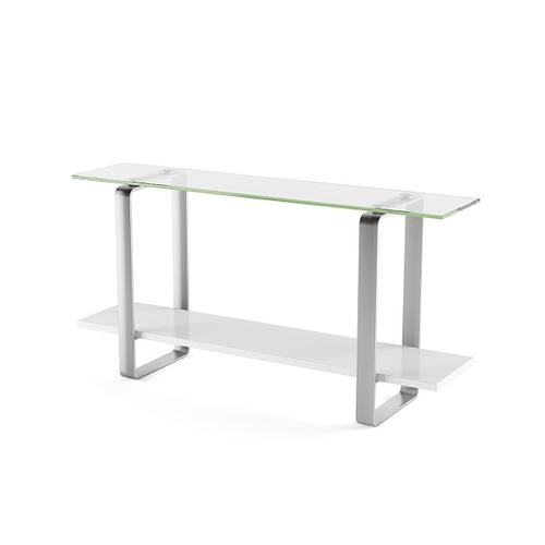 Console Table 1643 in Smooth Satin White