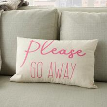 """Trendy, Hip, New-age Rn944 Pink 12"""" X 18"""" Throw Pillow"""