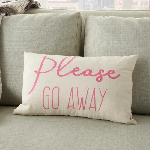 "Trendy, Hip, New-age Rn944 Pink 12"" X 18"" Throw Pillow"