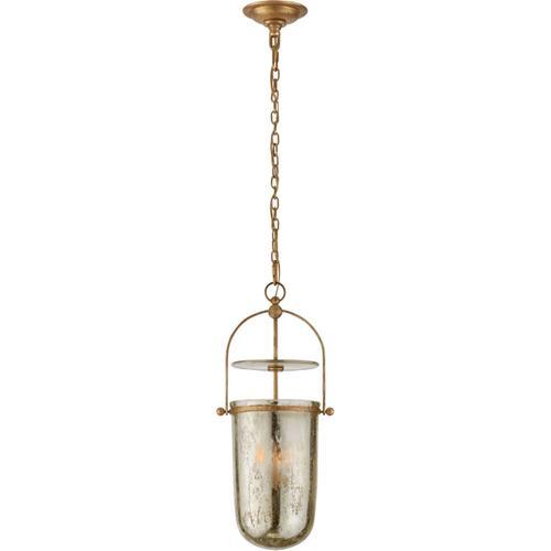 E. F. Chapman Lorford 3 Light 10 inch Gilded Iron Lantern Pendant Ceiling Light, Tall Smoke Bell