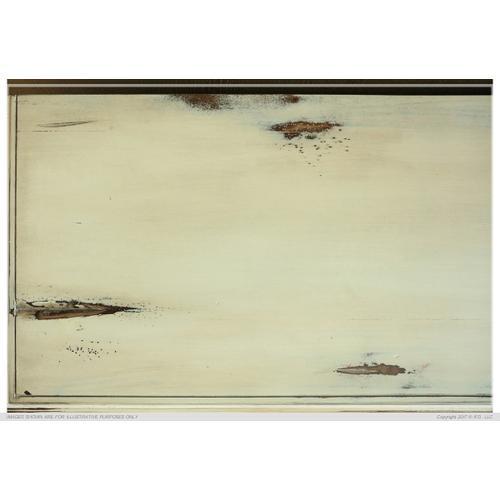 Console w/ 4 Glass Doors - Vanilla finish