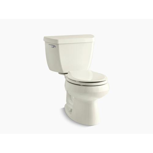 Kohler - Biscuit Two-piece Round-front 1.28 Gpf Toilet