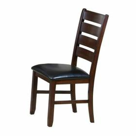 ACME Urbana Side Chair (Set-2) - 04624 - Black PU & Cherry