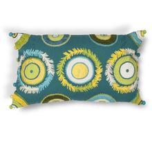 "L218 Blue/green Circles Pillow 12"" X 20"""