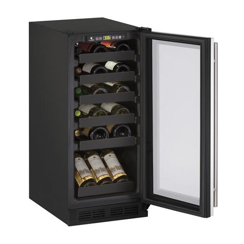 "15"" Wine Refrigerator With Stainless Frame Finish (115 V/60 Hz Volts /60 Hz Hz)"