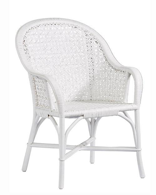 Accent Arm Dining Chair- 1/CTN - White Finish