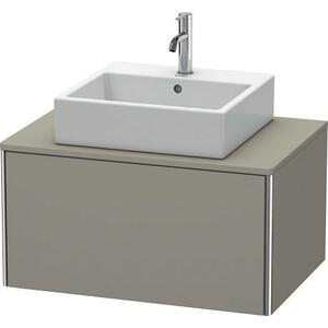 Vanity Unit For Console Wall-mounted, Stone Gray Satin Matte (lacquer)