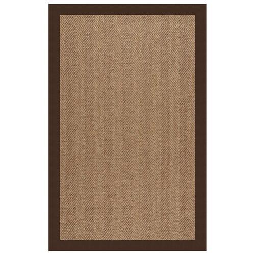 "Capel Rugs - Islamorada-Herringbone Canvas Bay Brown - Rectangle - 24"" x 36"""
