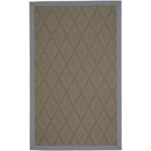 "Savanna-Earl Gray Canvas Charcoal - Rectangle - 12"" x 12"""