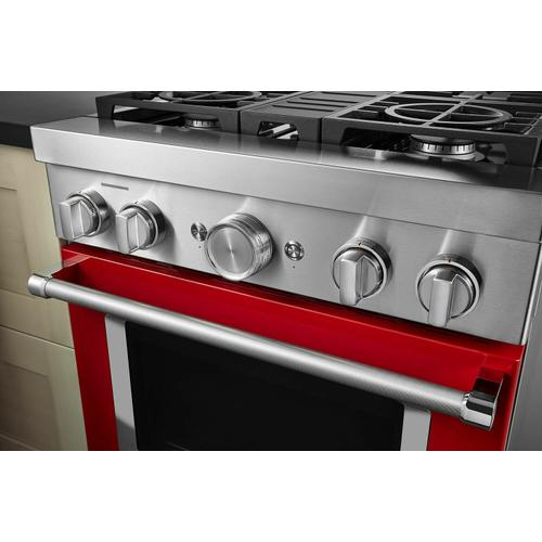 KitchenAid - KitchenAid® 30'' Smart Commercial-Style Gas Range with 4 Burners - Passion Red