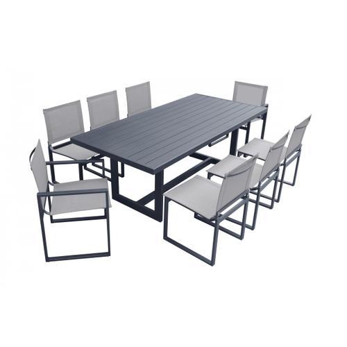 VIG Furniture - Renava Wake - Modern Dark Charcoal Outdoor Dining Table