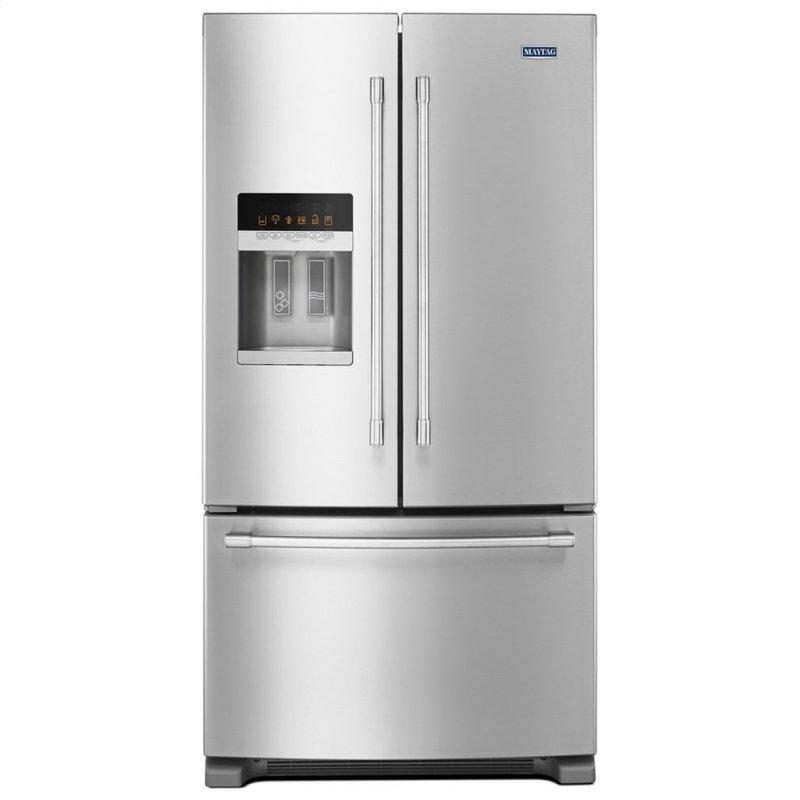 36- Inch Wide French Door Refrigerator with PowerCold(R) Feature - 25 Cu. Ft.