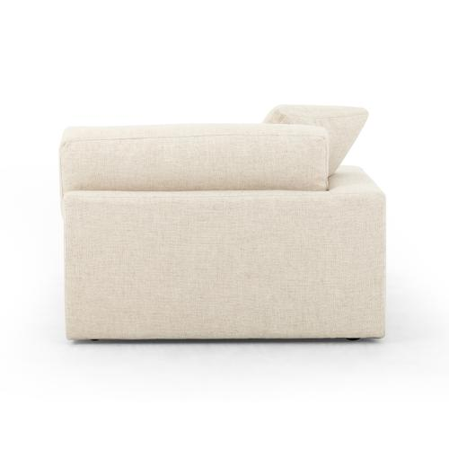 """Left Arm Facing Configuration Thames Cream Cover Plume Two-piece Sectional-136"""""""