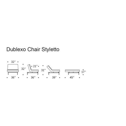 DUBLEXO CHAIR/SP CHAIR LEGS, METAL BARS/SP STYLETTO HL WALNUT