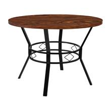 "42"" Round Dining Table in Swirled Chocolate Marble-Like Finish"