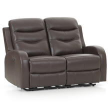 Milano Power Reclining Loveseat  Chocolate
