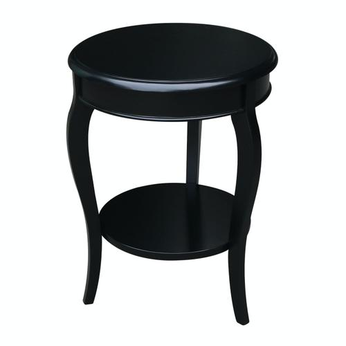 John Thomas Furniture - Cambria Accent Table in Solid Black
