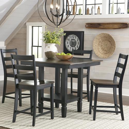 Intercon Furniture - Glennwood Stool  Black & Charcoal