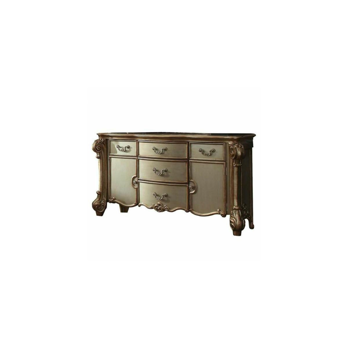 ACME Vendome Dresser - 23005 - Gold Patina & Bone