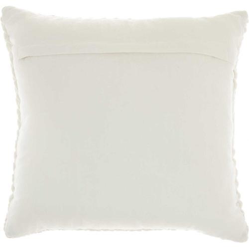 "Life Styles Sc001 Cream 18"" X 18"" Throw Pillow"