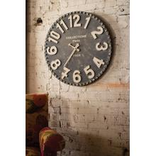 See Details - black and white wooden wall clock
