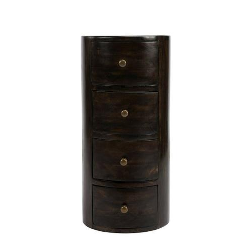 Butler Specialty Company - This storage pedestal is perfect for filling that neglected corner or other spot in your room. Individually handcrafted from solid mango wood, it features a provincial antiqued coffee finish, antique-brass finished hardware and four drawers for convenient storage.